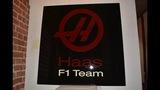 Haas Formula 1 Team wall sign.