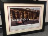 Ferrari at Station Corner signed John Surtees.