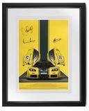 Signed McLaren F1GTR Poster