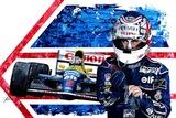 Nigel Mansell CBE. Framed Original Painting