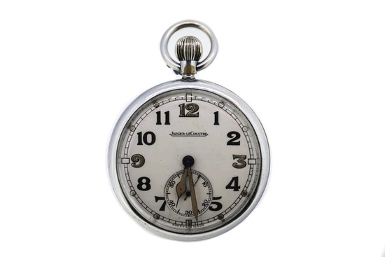 Jaeger Le Coultre open-faced Military Pocket Watch