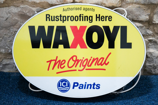 Original Waxoyl lightbox sign
