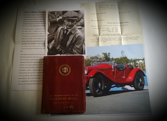 1929-33 Alfa Romeo 6C 1750 GS owner's manual