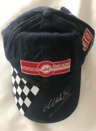 Porsche Le Mans cap signed by Mark Webber
