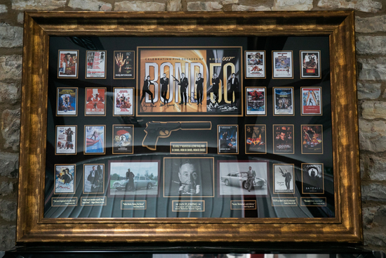 Rare piece of James Bond wall art