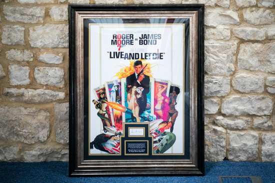 James Bond 'Live and Let Die' signed movie poster production