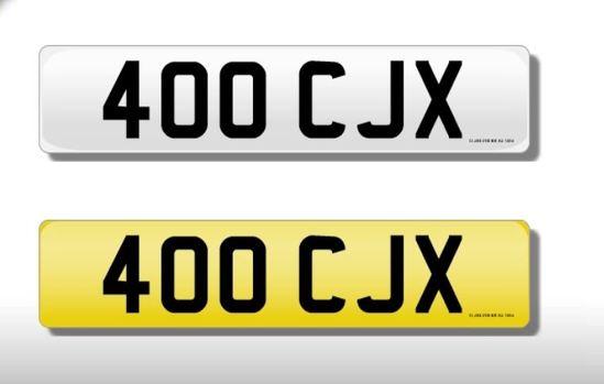 Cherished number plate 400 CJX