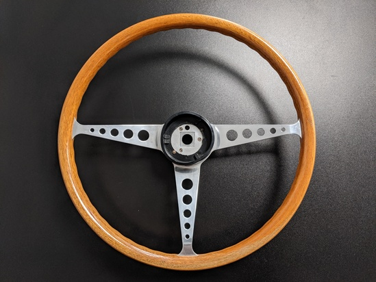 1960s Wood Rim Steering Wheel for MK1 Lotus/GT Cortina