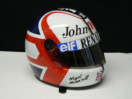 Nigel Mansell  'Half and Half' helmet