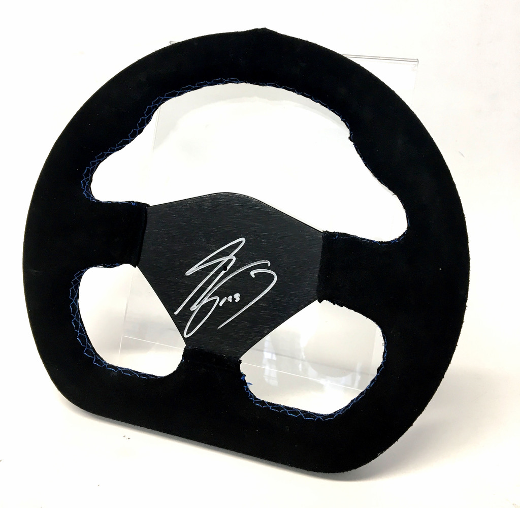Racing Steering Wheel, signed by Alain Prost OBE