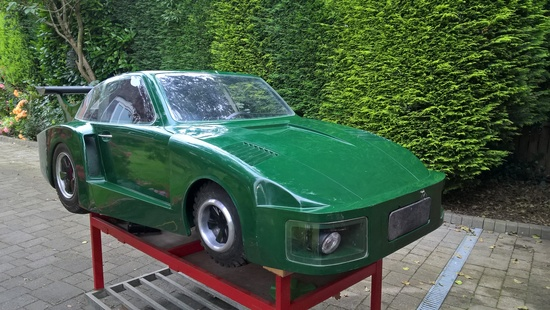 Powered half-scale Porsche 935 childs car project