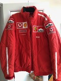 A set of Ferrari F430 car covers, pit crew jacket and other items