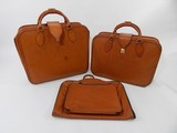 Original Ferrari 355 three-piece Complete Schedoni leather luggage set