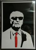 A photographic portrait of Enzo Ferrari