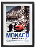 1965 Monaco poster, signed John Surtees CBE