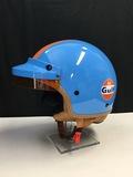 Gulf Porsche helmet, limited edition, signed by Derek Bell MBE
