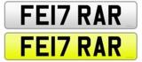 Registration number 'FE17 RAR'