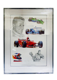 Tribute to Michael Schumacher print by Stuart McIntyre