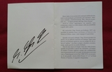 Michael Schumacher signed memorial service card