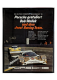 Original German poster featuring Bob Wollek in the 956