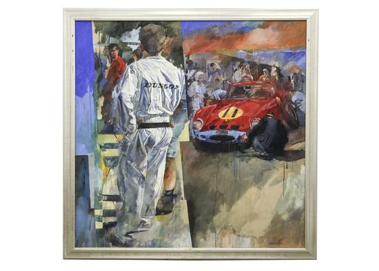 John Surtees and his Ferrari GTO an original by Stanley Rose