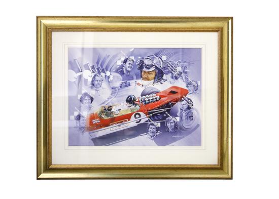 Ford Formula One World Champions. An original watercolour by Craig Warwick