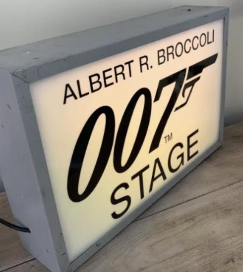 Original 007 illuminated studio sign