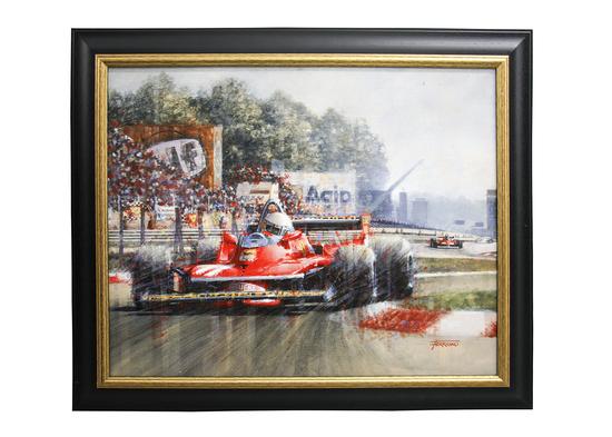 Jody Scheckter original artwork by Juan Carlos Ferrigno