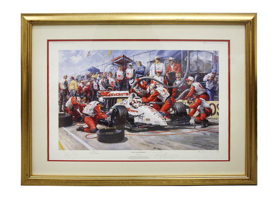IndyCar Champions signed rare, limited edition print