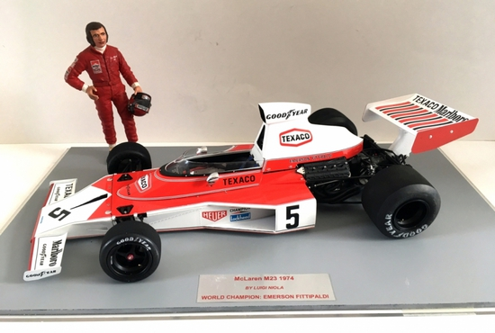 1/12 McLaren M23 Diorama signed by Emerson Fittipaldi