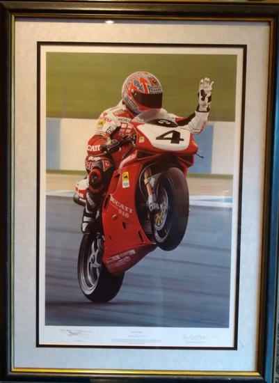 'Ruby Red' limited edition, signed by Carl Fogarty MBE