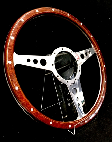 Steering wheel, signed by Tony Brooks
