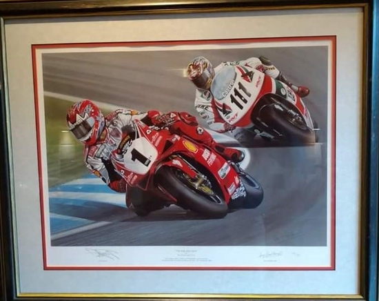 'The One and Only' limited edition print, signed by Carl Fogarty MBE