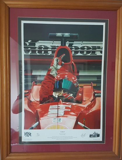Michael Schumacher limited edition print