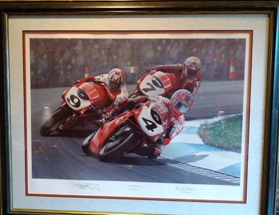 'The Three Dukes' limited edition print, signed by Carl Fogarty MBE