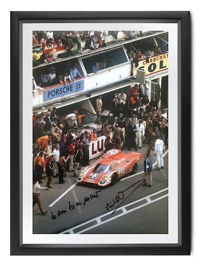 Le Mans 1970, signed Richard Attwood and Hans Herrmann