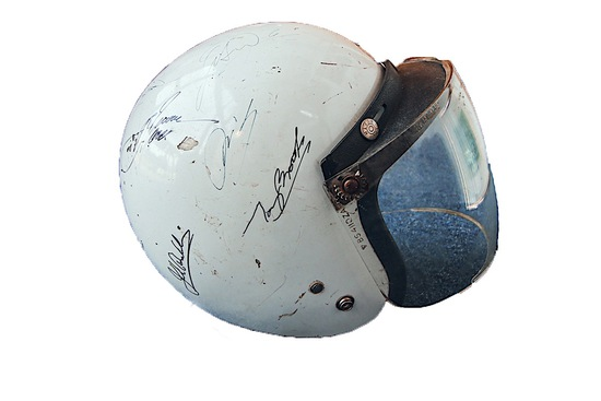 Original Paddy Hopkirk helmet, multi-signed