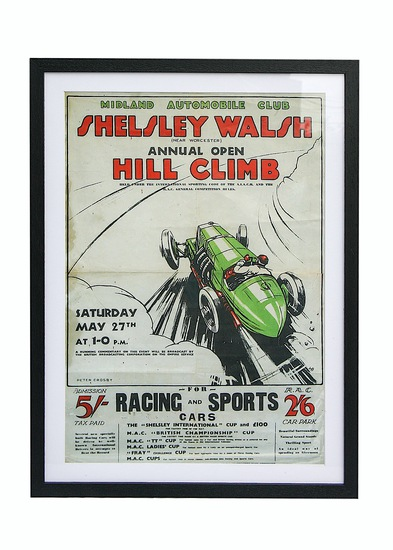 Shelsley Walsh Hill Climb poster by Peter Crosby