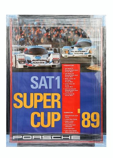 Porsche Super Cup 1989 framed poster