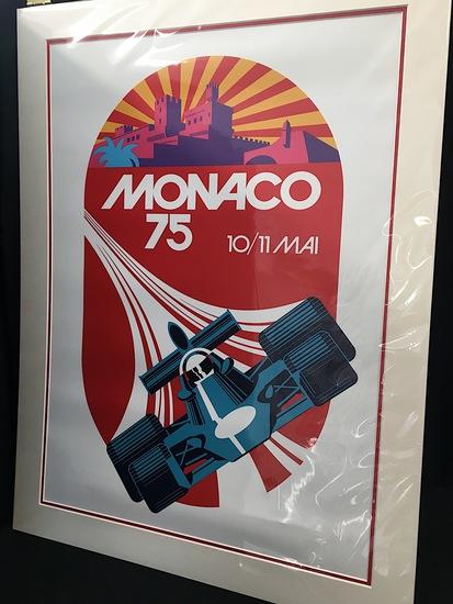 Monaco 1975 poster, mounted