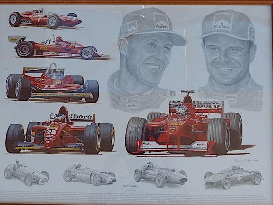 Pair of motorsport prints