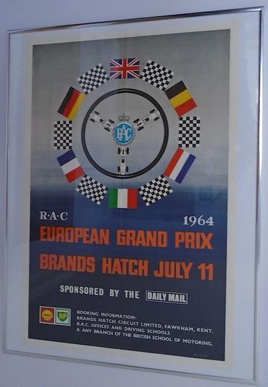1964 European Grand Prix poster