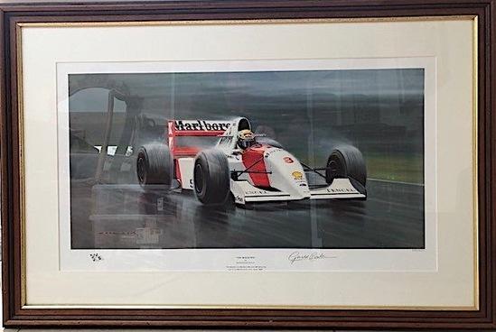 A pair of Ayrton Senna limited-edition prints