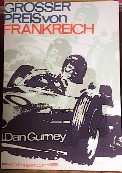 Dan Gurney Porsche canvas