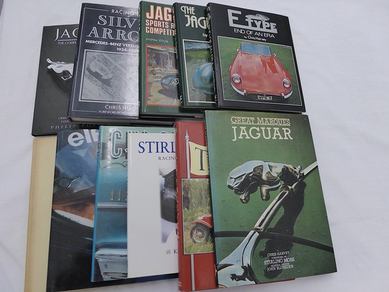 A collection of motor racing publications