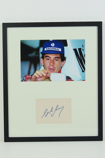 Ayrton Senna, hand-signed production