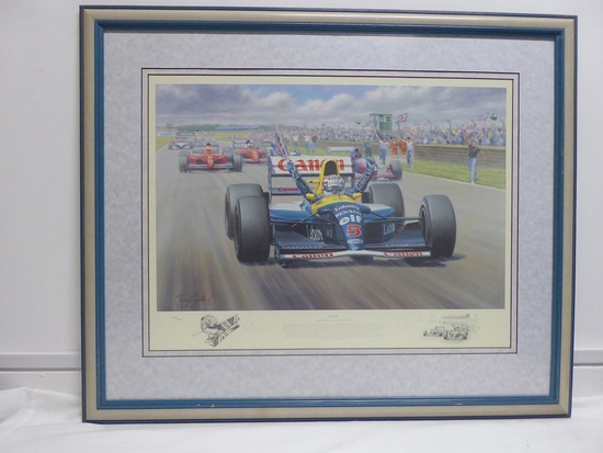 'Victory' Nigel Mansell-signed, limited-edition print