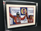 Senna and Prost share a podium, signed by Alain Prost OBE