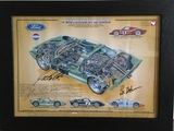 Ford GT40 limited edition print, multi-signed