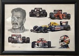 A pair of Nigel Mansell CBE prints